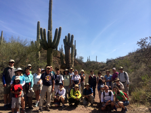 Group hike on the Arizona Trail