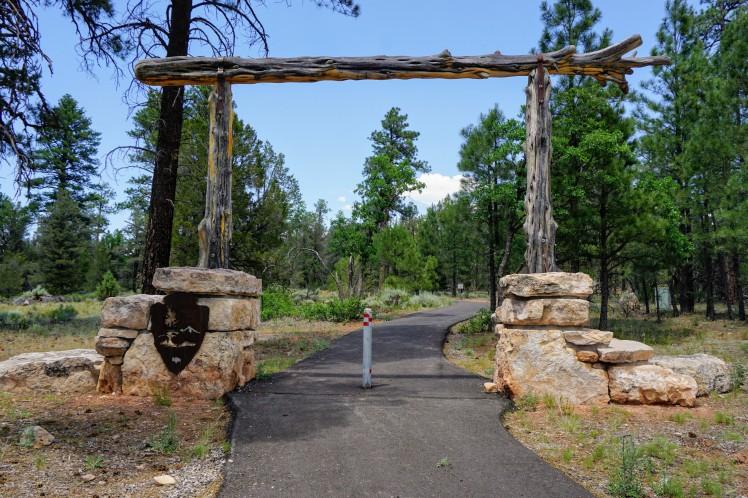 Entrance to Grand Canyon NP on Arizona Trail