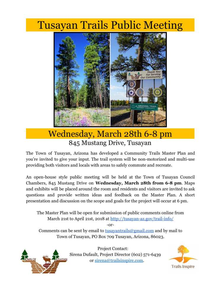 Tusayan Trails Master Plan Public Meeting Flyer-1