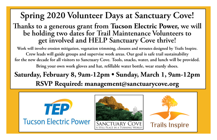 Sanctuary Cove Trail Volunteer Days
